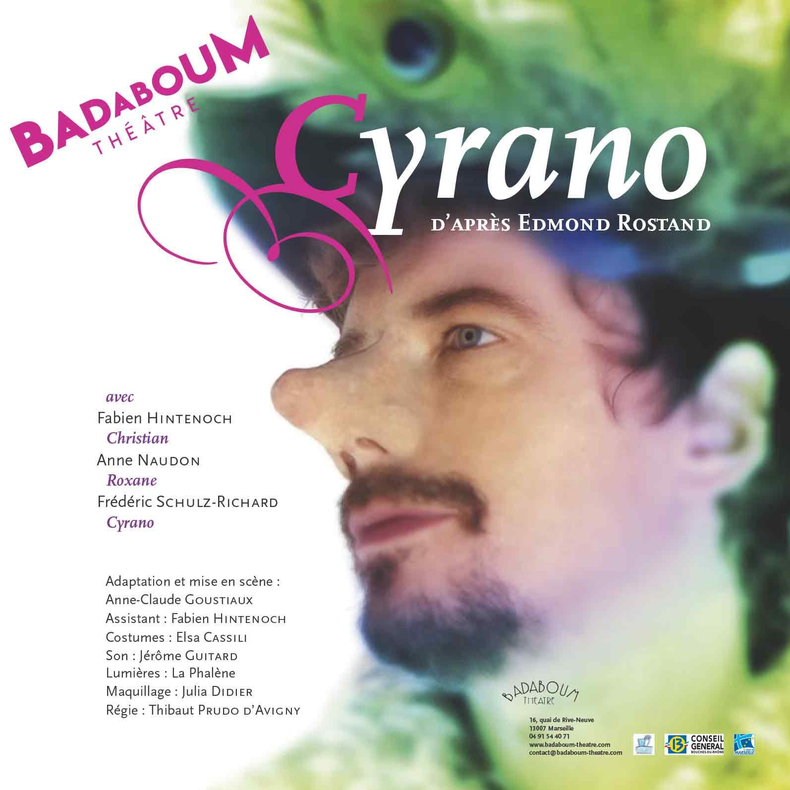Affiche Cyrano Spectacle Enfant Badaboum theatre