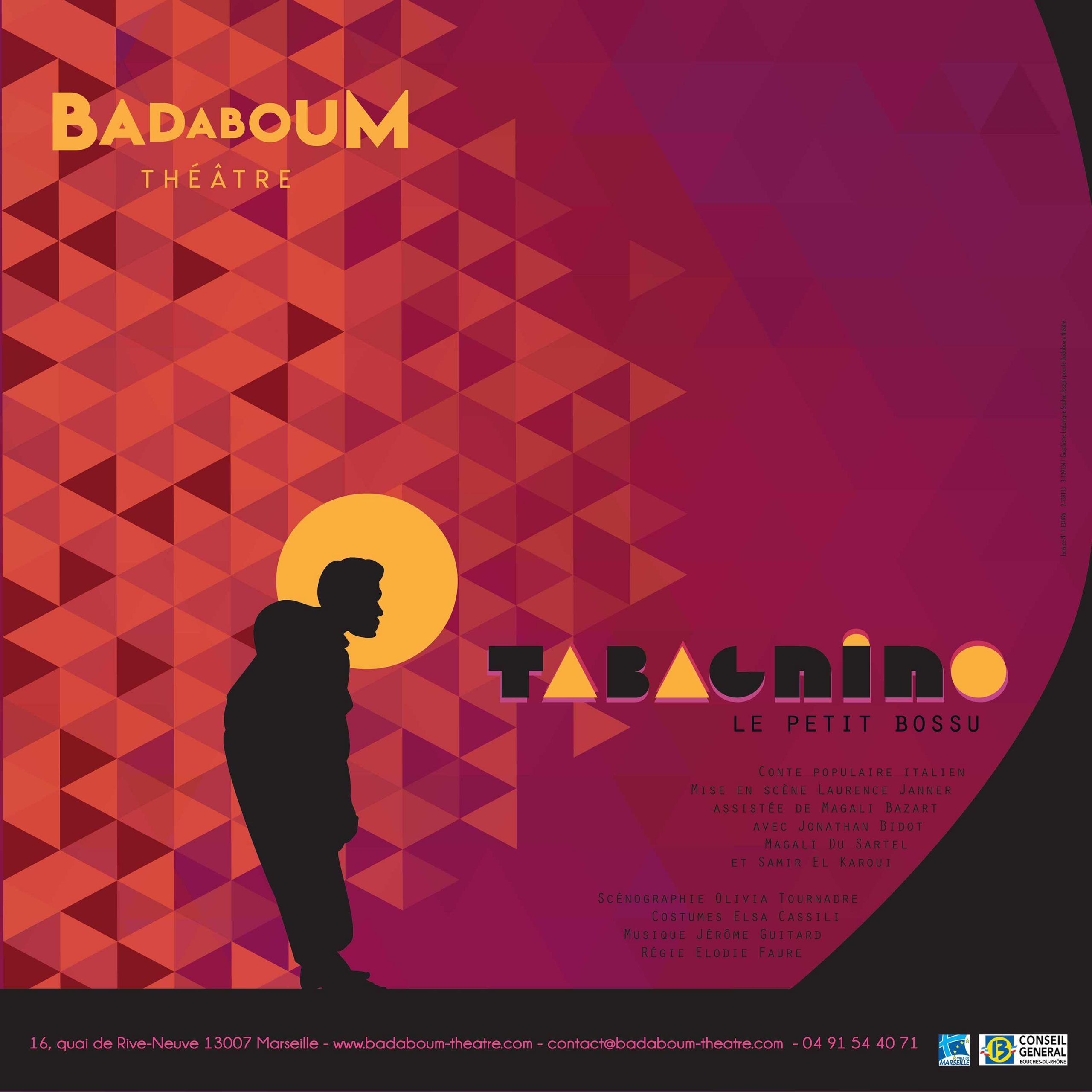 Affiche Tabagnino Spectacle enfant Badaboum theatre scaled