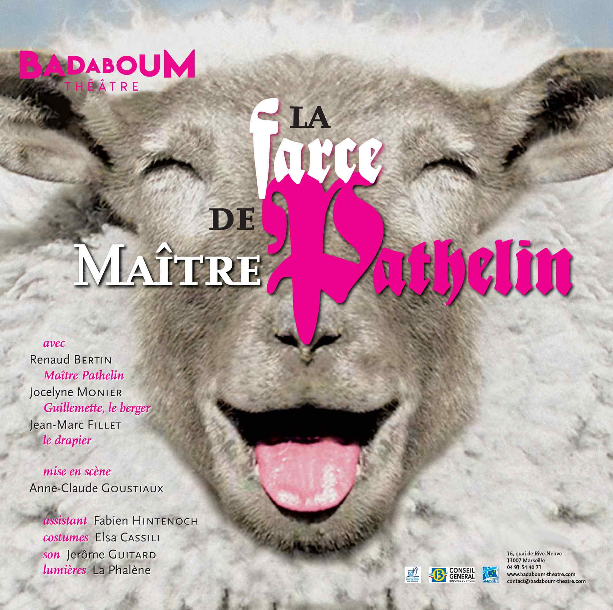 Affiche la farce de maitre pathelin spectacle enfant badaboum theatre